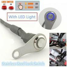 Переключатель электрический мотоциклетный светильник светодиодный головной светильник переключатель на руль переключатель вкл+ выкл крепление на руль кнопка 12 В для работы светильник