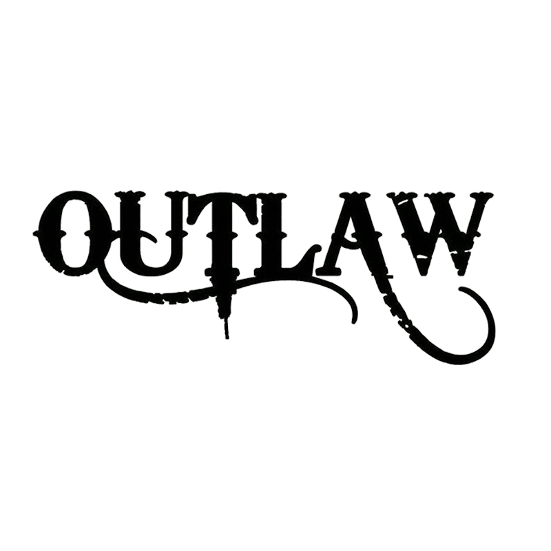 Outlaw Decal Sticker Fashion Personality Creative Car Truck Laptop Boat Surface Trailer Motorcycle Vinyl Decor Decals