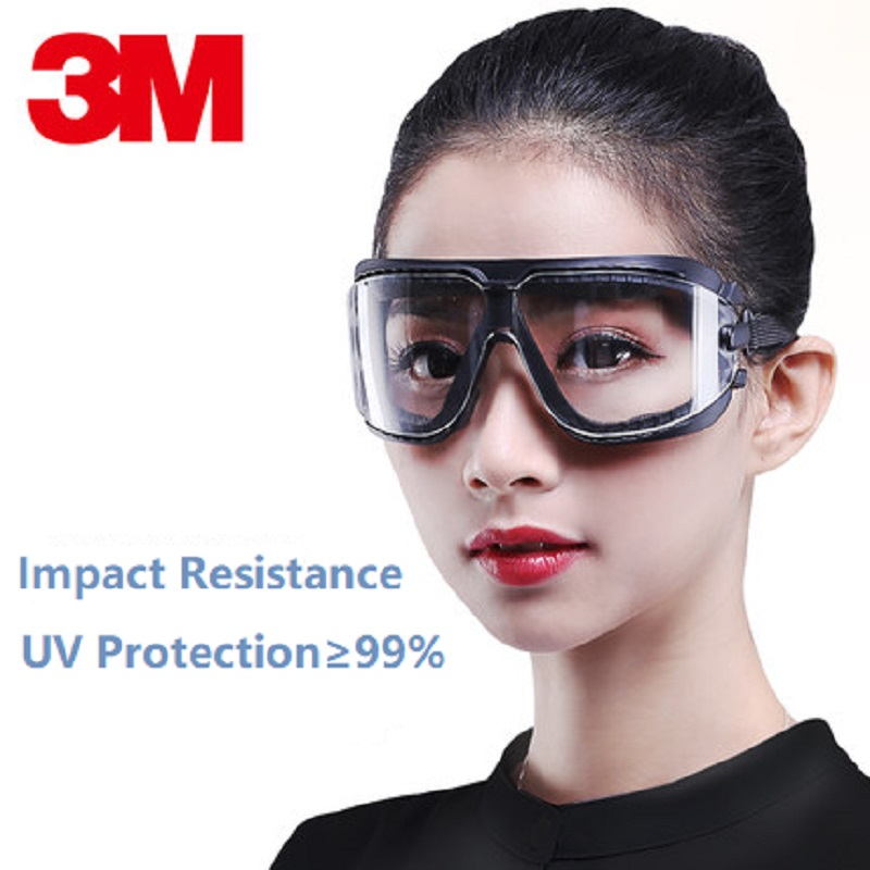 3M 16618 Anti-Fog Scratch Coating Lens Anti Chemical Splash Dust Glasses Safety Goggles Economy Protection Riding Factory Labor