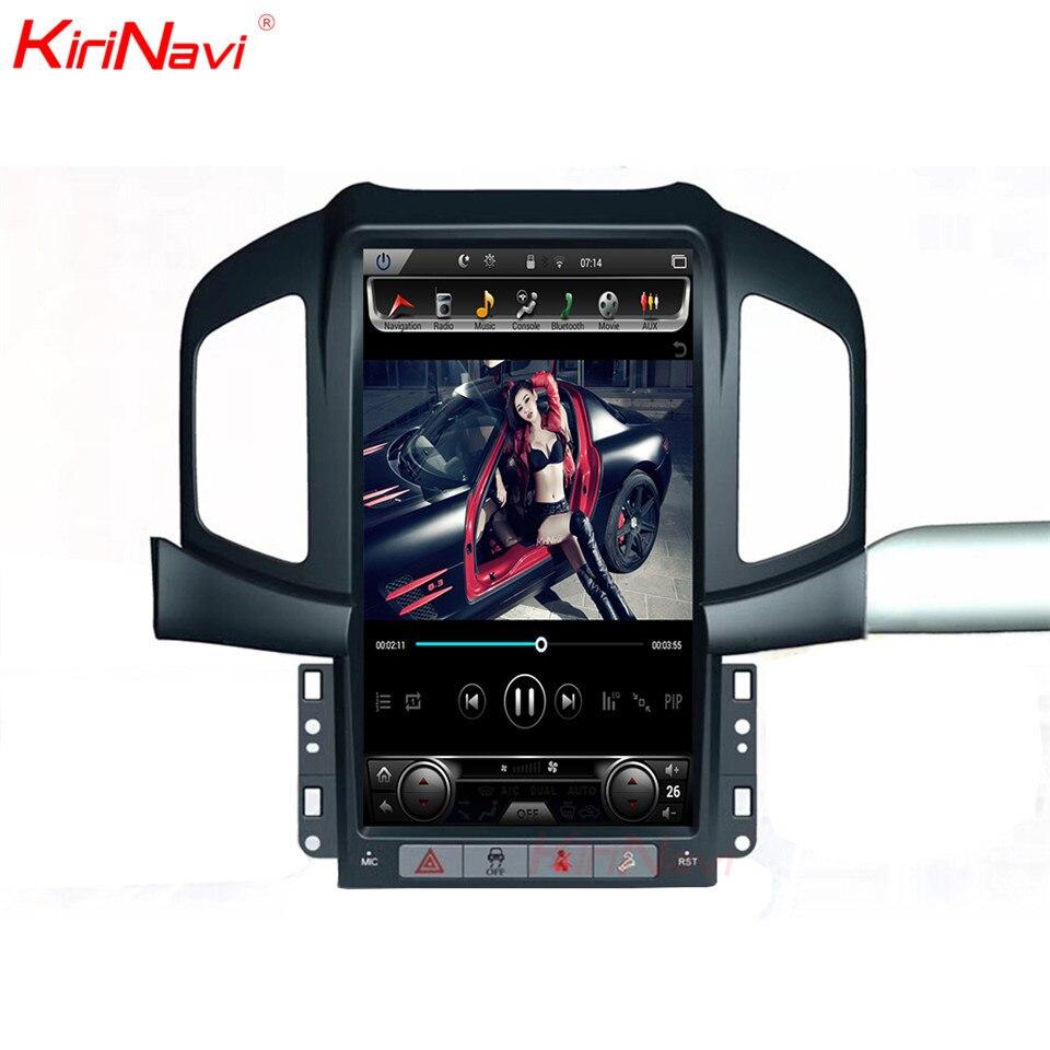 KiriNavi Touch Screen Tesla Style Android 13.6inch Car Radio Gps Navigation Player For Chevrolet Captiva Bluetooth 2013 2017
