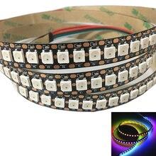144 פיקסלים 1 m נוריות WS2812B 2812 WS 2812 LED שבב WS2811 IC דיגיטלי 5050 SMD RGB LED רצועת DC5V