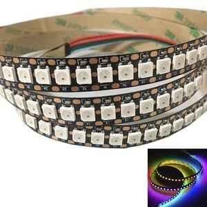 Image 1 - 144 píxeles 1m LEDs WS2812B 2812 WS 2812 Chip LED WS2811 IC Digital LED RGB SMD 5050 tira DC5V