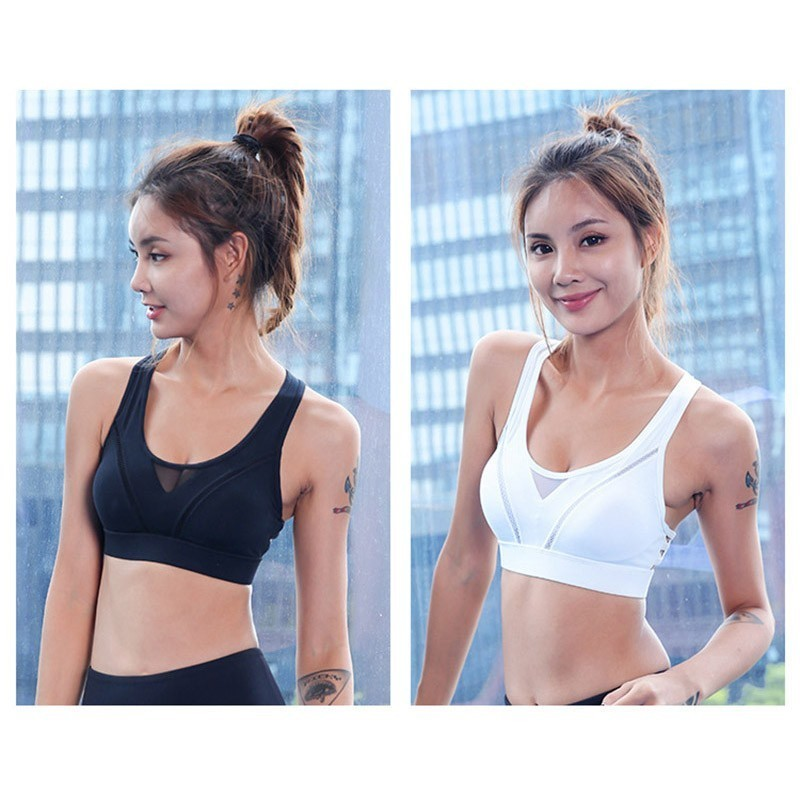 Sexy U Padded Sports Bra Solid Breathable Yoga Bra Shockproof Running Workout Gym Backless Fitness Brassiere Wear Women Clothing