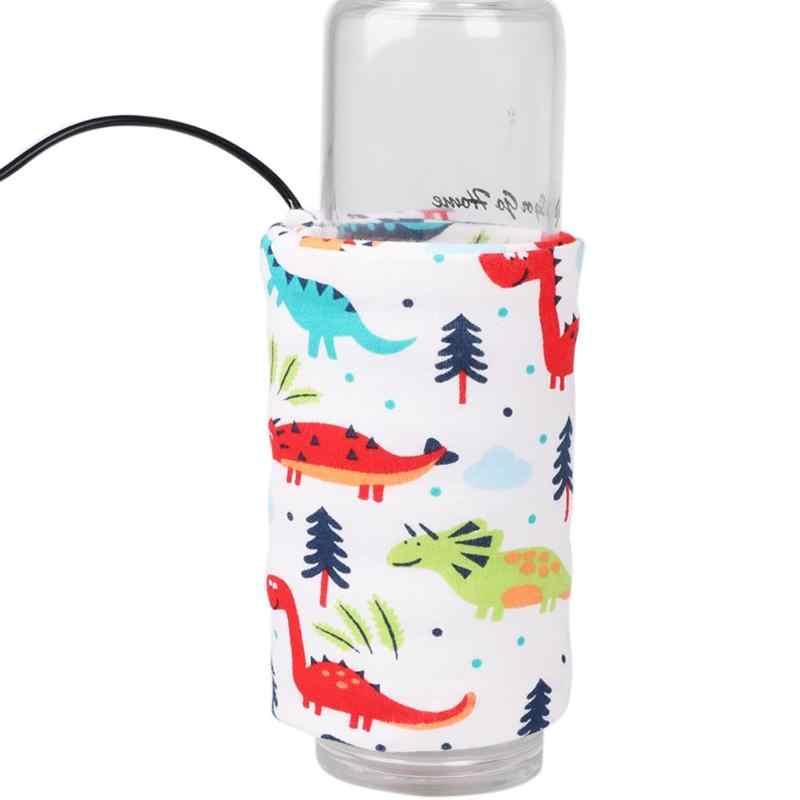 Портативный USB детский прибор для подогрева молочных бутылочек, дорожная чашка, подогреватель, сумка для детской бутылочки, термостат для хранения