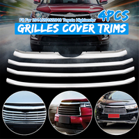 Chrome Stainless steel Grill Grilles cover trims for Toyota 2014 2015 2016 Highlander