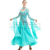 Viennese waltz dance dress Viennese waltz dance gowns custom make free shipping customize your own dance costumes
