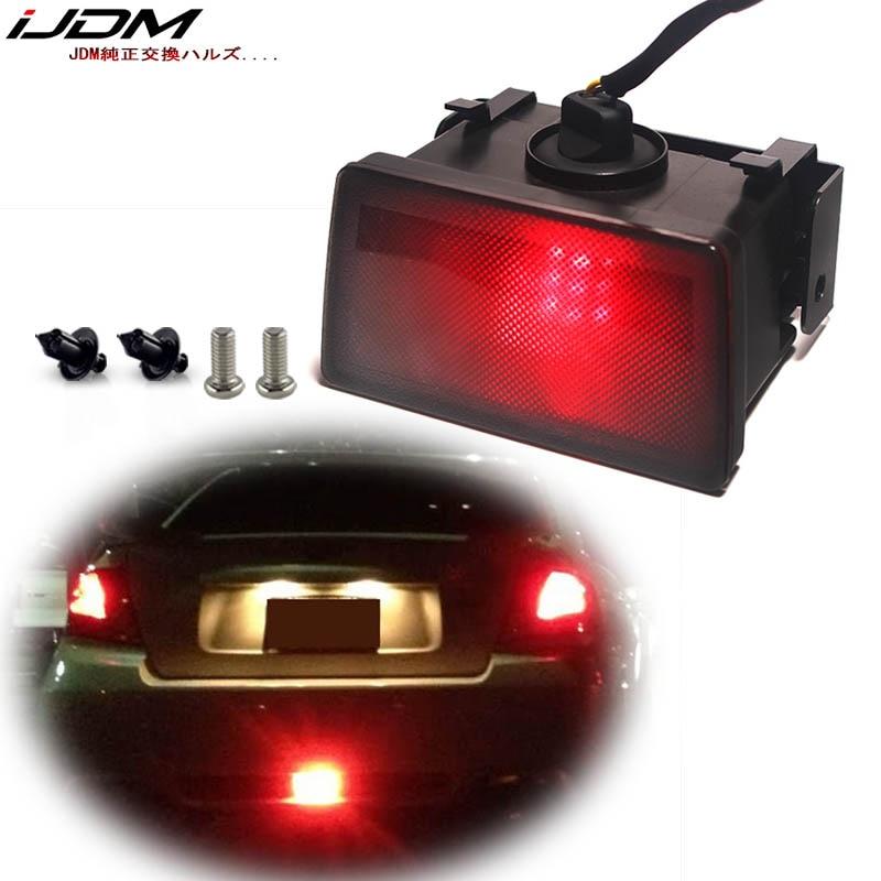 Smoke F1 Style LED Rear Fog Light Brake+Bracket For Subaru Impreza WRX STi XV