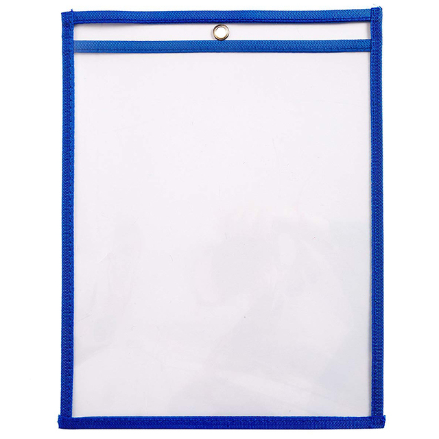 hot-10 Dry Erase Pockets, Oversize 9 x 12 Inch Pockets, Perfect Classroom Organization, Reusable Dry Erase Pockets, Teaching S 4