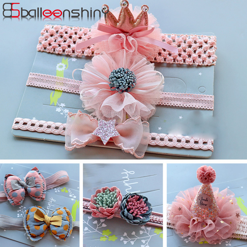 BalleenShiny diadema de princesa bebé elástico corona banda de la . a620ae00ec1d