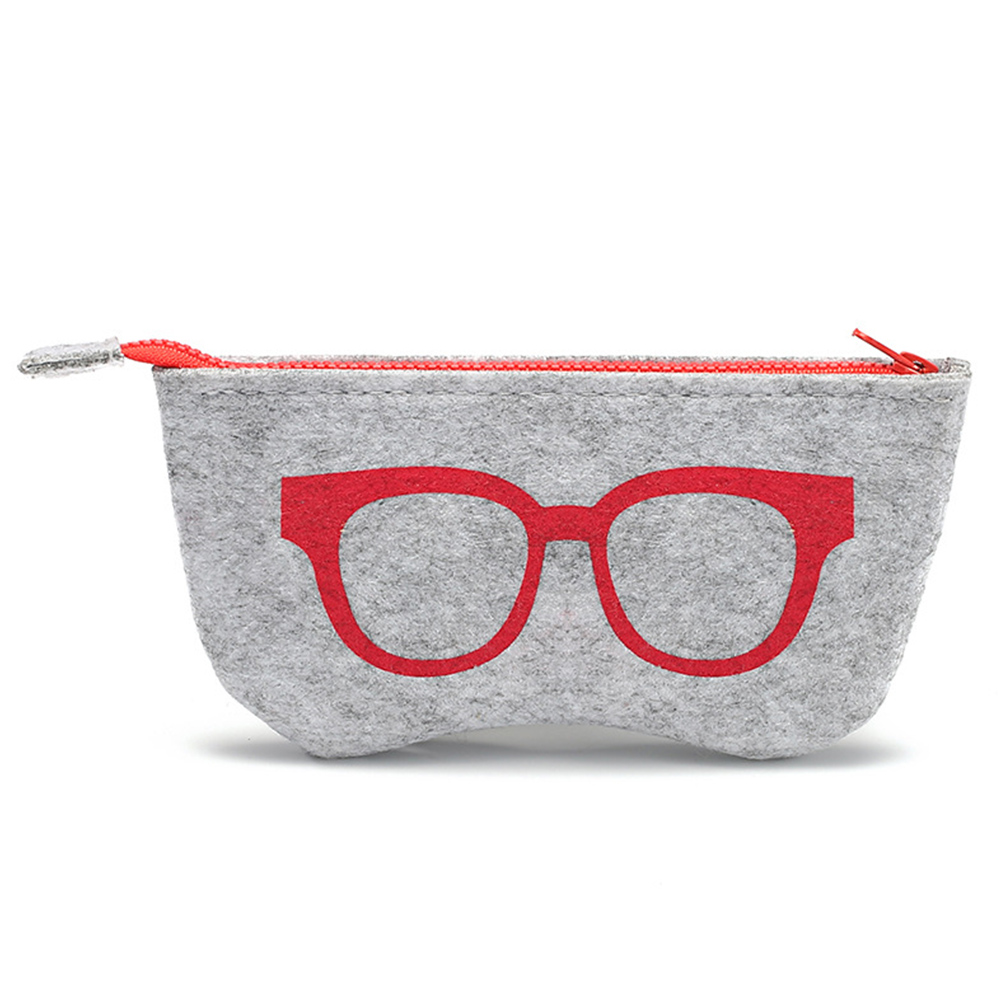Men's Glasses Fast Deliver Fashion Portable Glasses Bag Container Bag Felt Travel Storage Eyeglasses Pouch Soft Glasses Cases Zipper Scratch-proof Eyewear Accessories
