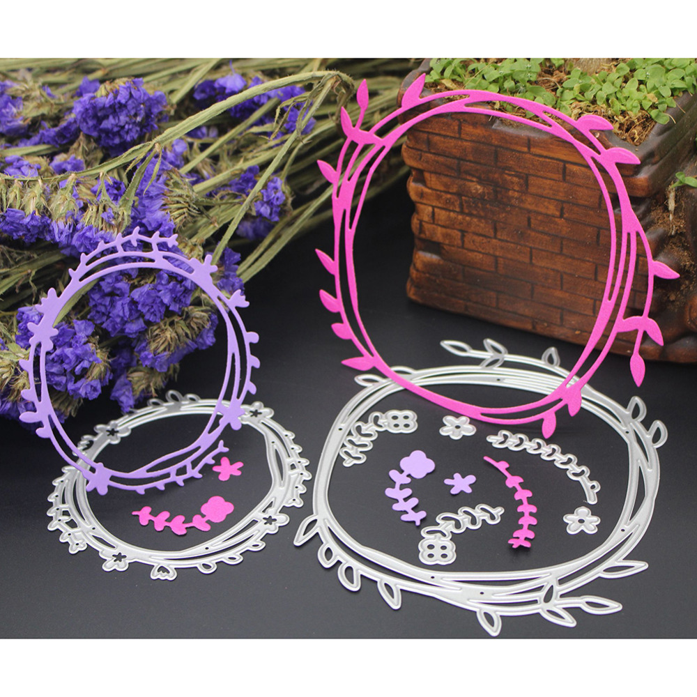 Wreath Laves Metal Cutting Dies Scrapbooking Embossing Stencil Card Die fustelle metalliche For DIY Invitation Album Frame Decor