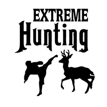 Extreme Hunting Hunters And Deer Art Painting Car Stickers Vinyl Decor Decals Rear Window Car Sticker for california car truck sticker decals art painting wall stickers vinyl decals car stickers