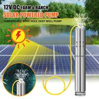 DC12V/18V 110W Max Head 20m Solar Powered Pump Submersible Bore Hole Deep Well Pump For Farm Fishpond And Ranch