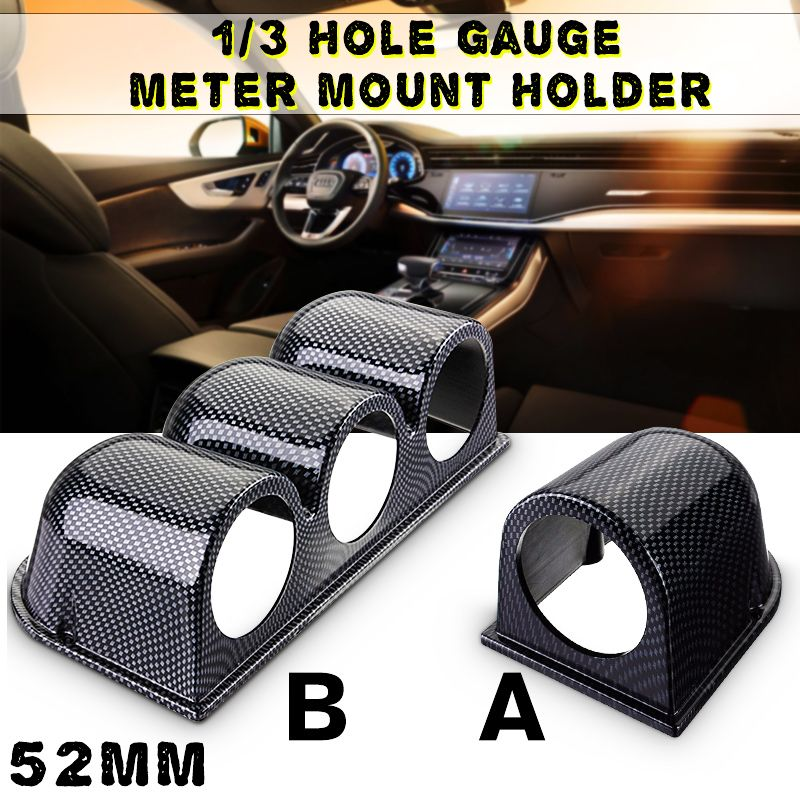 Universal 52mm Carbon Fiber Silver Car Gauge for pod Meter Dash Mount Hold Pillar Meter Housing Single/Dual/Triple HoleUniversal 52mm Carbon Fiber Silver Car Gauge for pod Meter Dash Mount Hold Pillar Meter Housing Single/Dual/Triple Hole