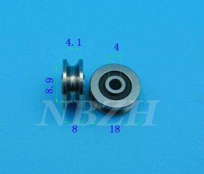 1 шт. высокое качество 4 мм V паз стальные роликовые подшипники JS0418U V1804-2RS U паз шкив шарикоподшипник 4*18*8 мм V1804 0418UU