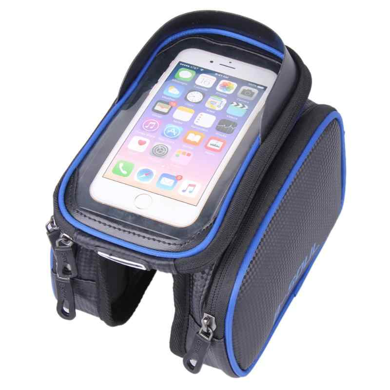 6.2 Inch Waterproof PU Touch Screen Bike Bags MTB Road Bicycle Front Frame Top Tube Bag Cell Phone Bicycle Bags