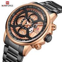 NAVIFORCE ชายกีฬานาฬิกายี่ห้อ Luxury Analog นาฬิกาควอตซ์ชายกันน้ำนาฬิกาข้อมือแฟชั่นนาฬิกาผู้ชาย Relogio Masculino