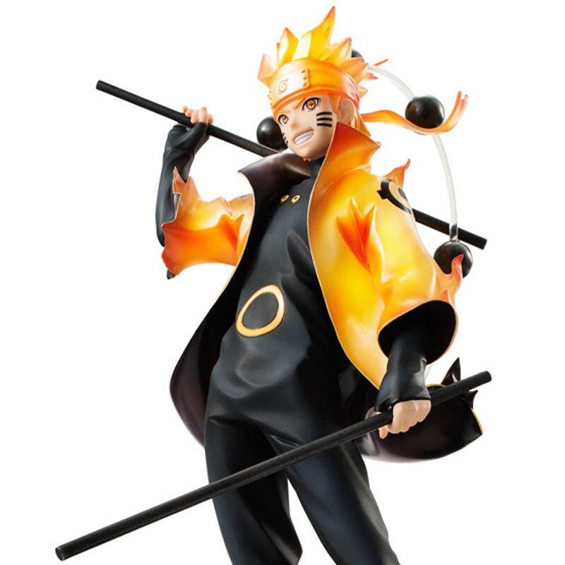 26cm Naruto Uzumaki Namikaze Minato TSUME Uzumaki Naruto PVC Action Figures Toys Anime Figure Toys For Kids Children Christmas