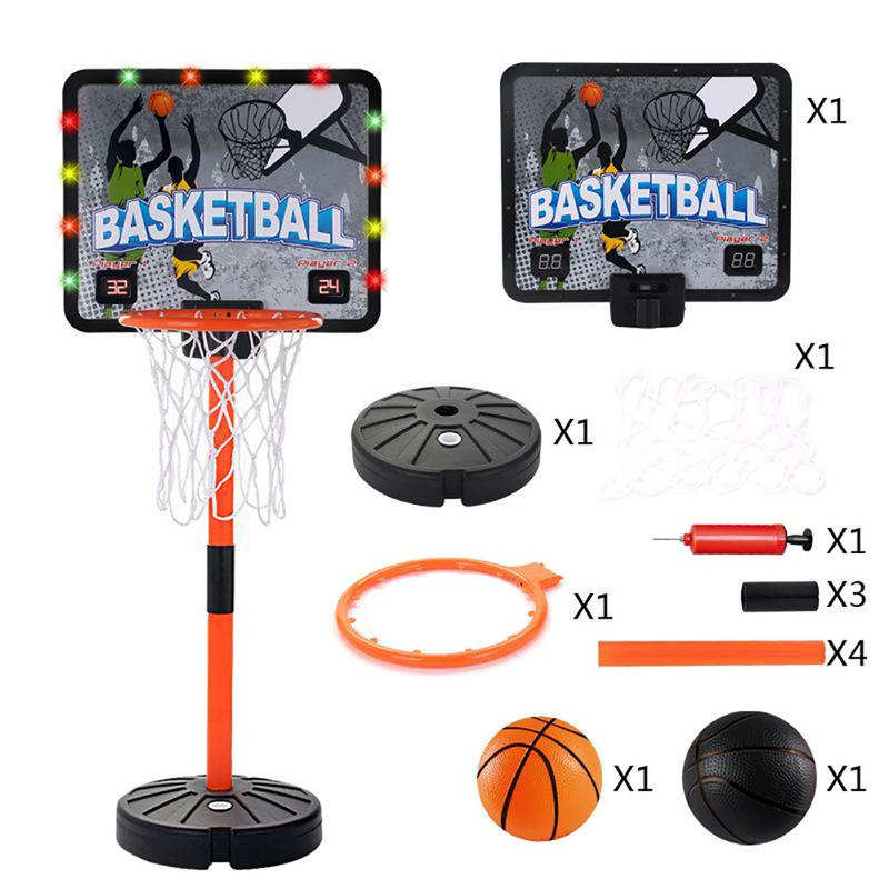 Outdoor Basketball Stand For Children 0.66 1.75 Meters Throw Basketball Toy Adjustable Raise Ball Basketball Stand