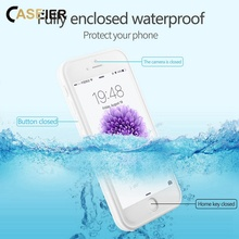 CASEIER Full Protective Waterproof Case For iPhone 6 6S 7 8 Plus XS MAX XR 5 5S SE Swim Water Park Underwater Photography Cases