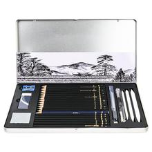 29PCs Drawing Sketching Pencil Set Professional Art Supplies Drawing Kit with Graphite Charcoal Sticks Tool Sketch Book for Adul
