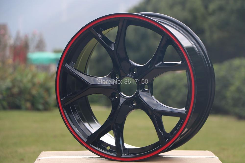 17x7.5J Wheel Rims Of The PCD 5x114.3 Center Broe 64.1 ET42 With The Hub Caps17x7.5J Wheel Rims Of The PCD 5x114.3 Center Broe 64.1 ET42 With The Hub Caps