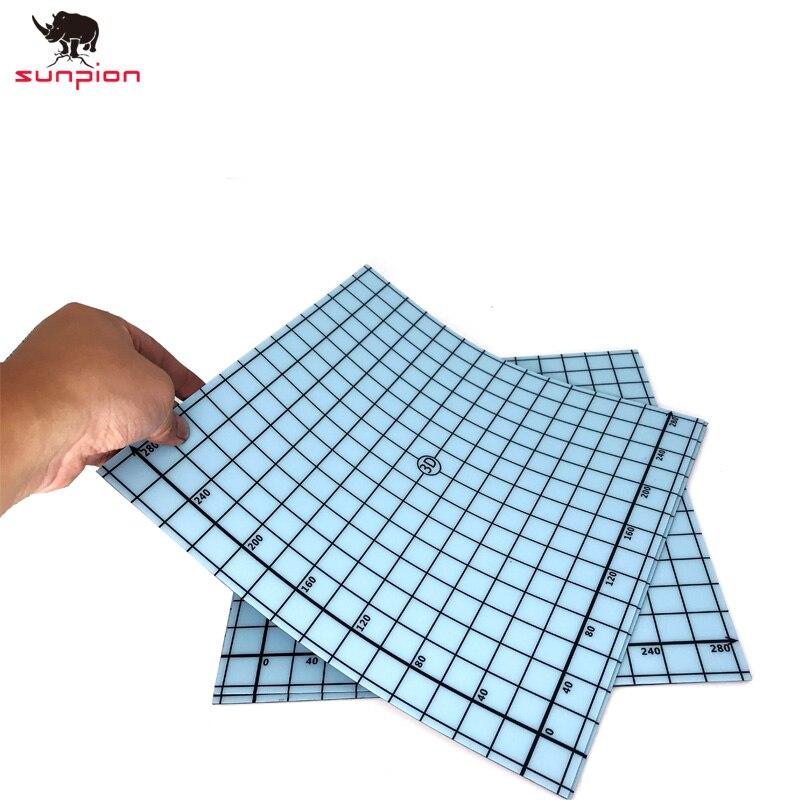 3D Imprimante Coordonner Imprimé CR-10S Cmagnet CR-10 Magnétique 3D Impression Lit Construire Surface Plaque Chauffée Lit Pièces 310x310mm 2 pcs/lot