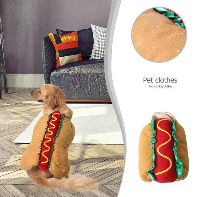 Creative Pet Dog Hot Dog Costume Clothes Hamburger Cat Clothes