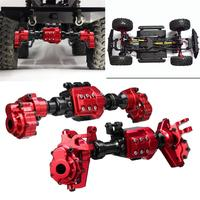 LeadingStar 2PCS CNC Machined Aluminum Front Rear Portal Axle Housing Red Color for Traxxas TRX 4 Crawler