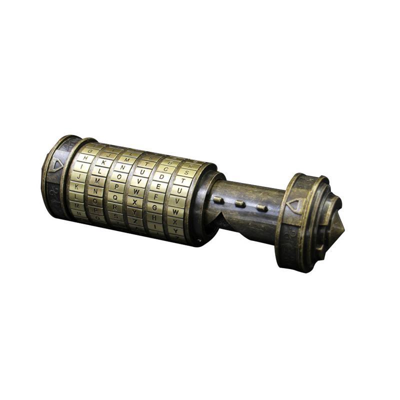Da Vinci mot de passe serrure jouet éducatif décryptage Code Mini Cryptex intéressant innovant romantique anniversaire cadeaux de noël - 5