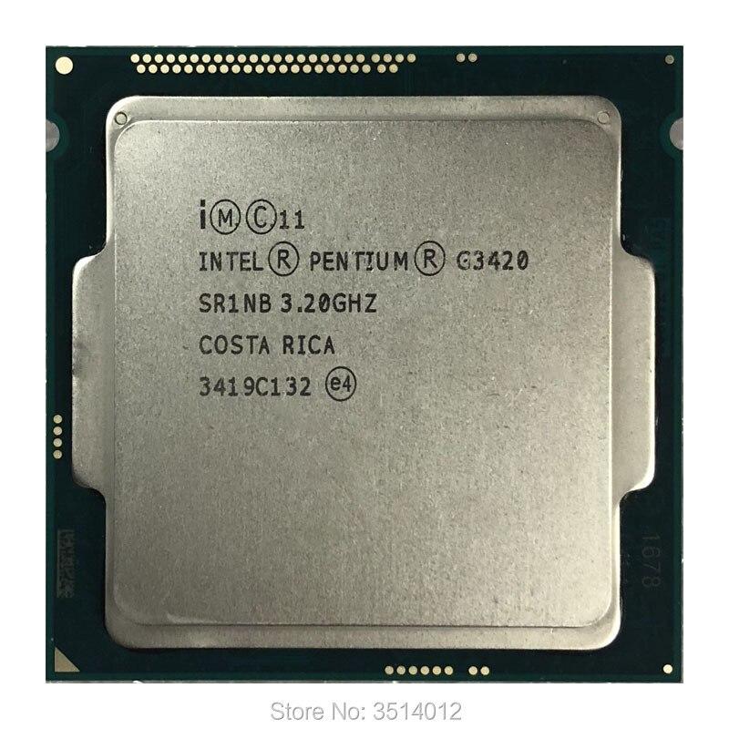 Intel Pentium G3420 3 2 GHz Dual Core CPU Processor 3M 53W LGA 1150