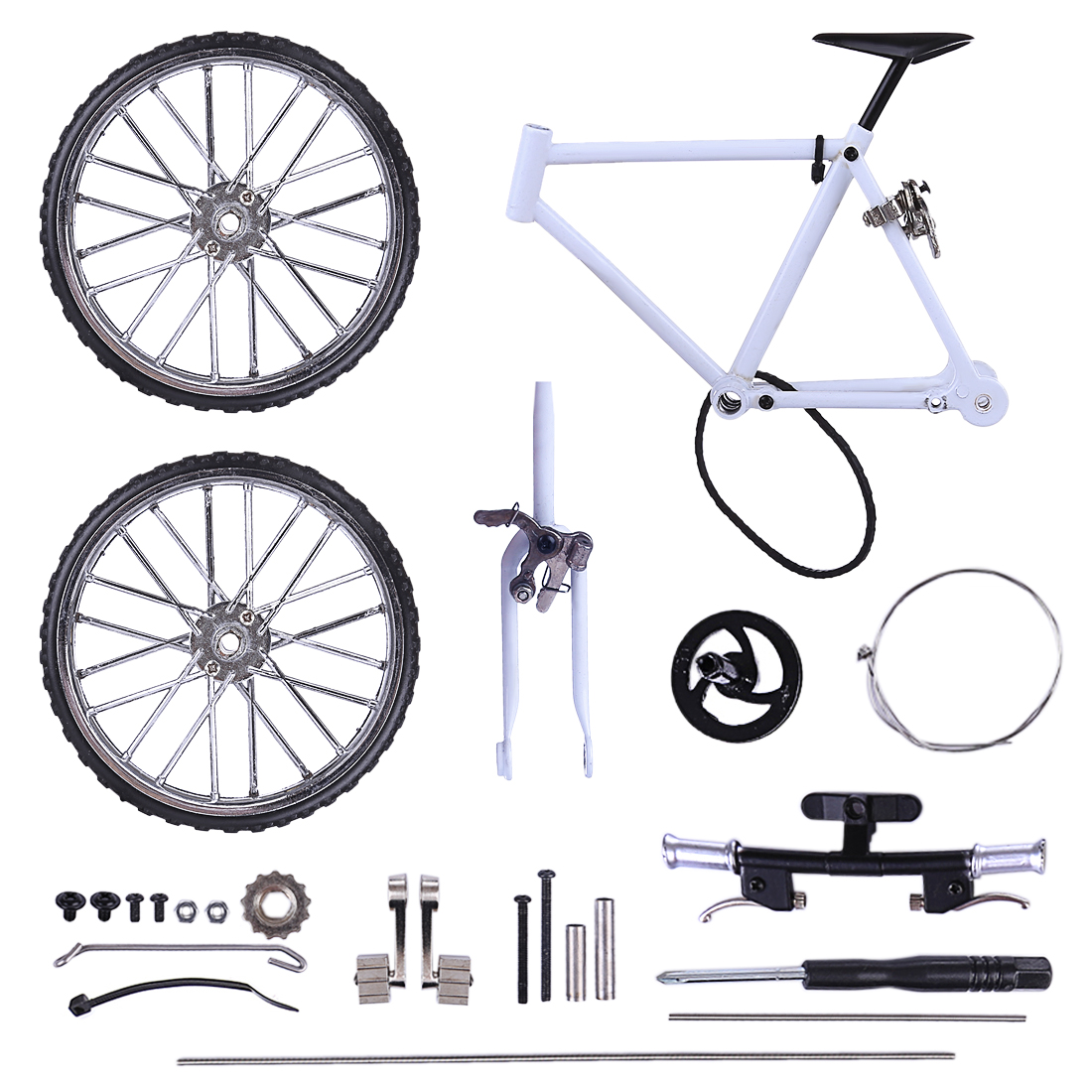 1:8 Assembly Simulated Mini DIY Bicycle MTB Bike Cycling Decoration Model Building Children Birthday Gift Early Education