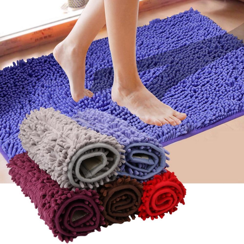 40*60 cm Floor Mat Soft Bathroom Rug Anti-slip Way Feet Mats Bathmat Bath Mat kitchen Door Carpet