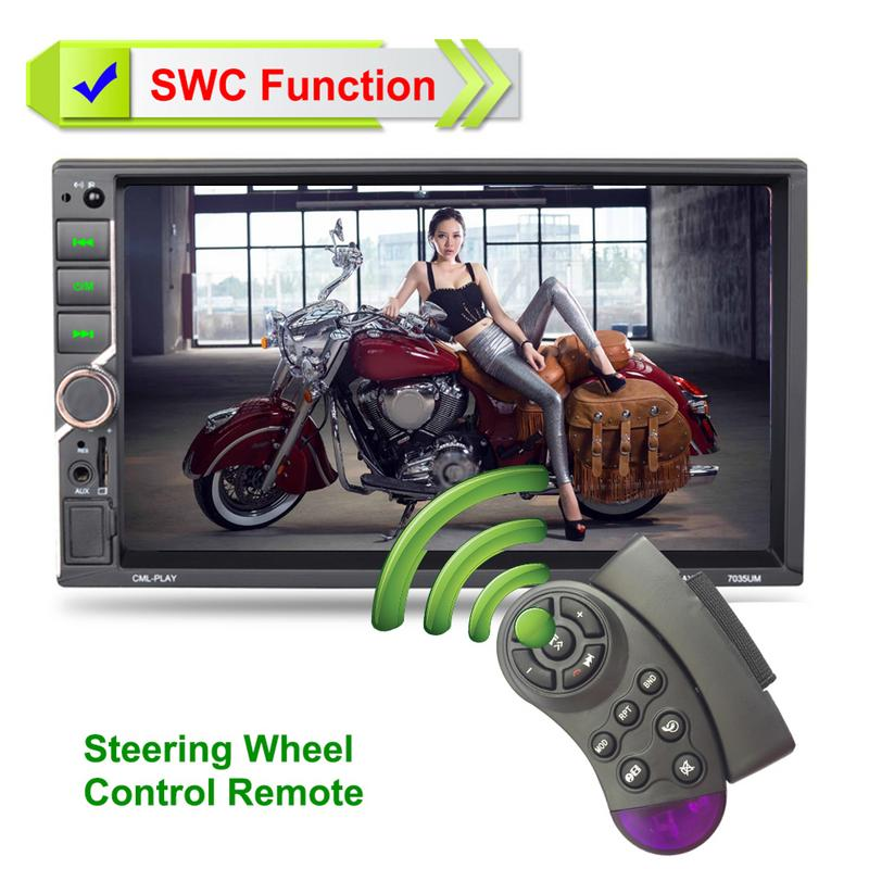 2 din Car Auto Radio Mirror Link 1080P 7 inch 2DIN Car Reverse Camera Steering Wheel Control Hands free Dual USB Charging