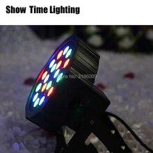 High quality 18 led par stage light LED RGB DMX 512 7CH mini lighting for Club Dj show Home party