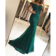 Vintage Lace Mermaid Evening Dresses Long 2019 Arabic vestidos de fiesta de noche Formal Women Dress Off The Shoulder Party Gown 2019 women chiffon prom dresses off shoulder formal party gowns vestidos de fiesta de noche