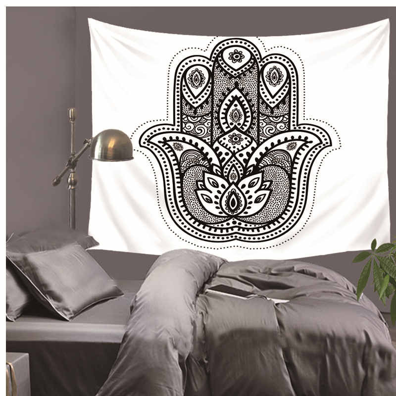 Printed Lotus Tapestry Bohemia Boho Mandala Tapestry Wall Hanging For Wall Decoration Hippie Tapestry Beach Towel Yoga Mat LZT9 in Tapestry from Home Garden