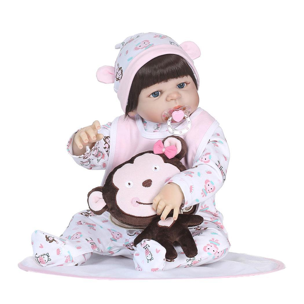 Silicone Sleeping Reborn Doll Realista Fashion Baby Dolls Kids Soft Silicone Realistic With Clothes Reborn Baby Doll