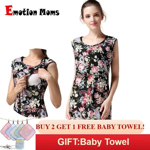 f4b5649d4b676 Emotion Moms Sleeveless Maternity clothing Nursing Breastfeeding dress  pregnancy Clothes for Pregnant Women Maternity dress