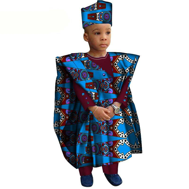 2019 New Arrival Fashion Style African Children Cotton Plus Size Three Pieces Sets XS-3XL