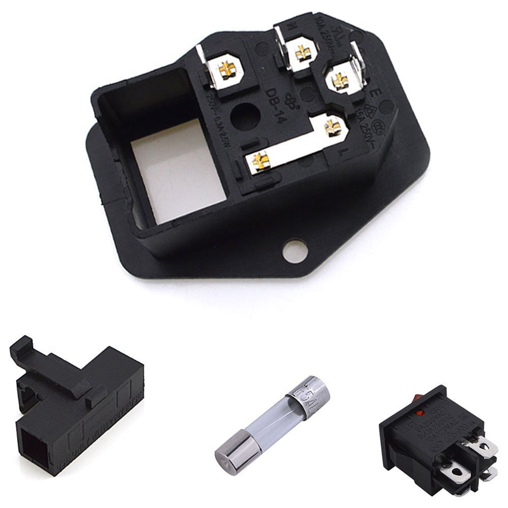 Image 3 - Inlet Male Power Socket With Fuse Rocker Switch, Fuse 3 Pin Iec320 250V 15A C14 Inlet Module For Computer And Home Appliance P-in Electrical Sockets from Home Improvement