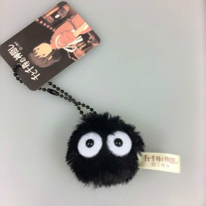 Promotion 4cm Fairydust Spirited Away My Neighbor Totoro Susuwatari Lovely Stuffed Plush Doll Kawaii Toy Keychain