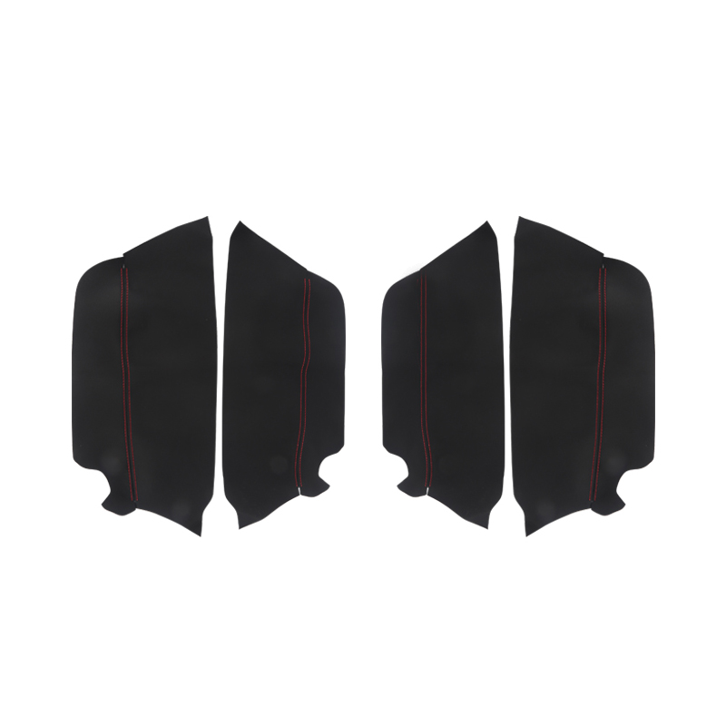 Image 2 - 4pcs Microfiber Leather Interior Door Panel Cover Sticker Trim For Toyota Prado 2010 2011 2012 2013 2014 2015 2016 2017 2018-in Interior Mouldings from Automobiles & Motorcycles