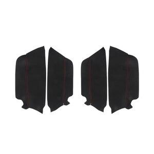 Image 2 - 4pcs Microfiber Leather Interior Door Panel Cover Sticker Trim For Toyota Prado 2010 2011 2012 2013 2014 2015 2016 2017 2018