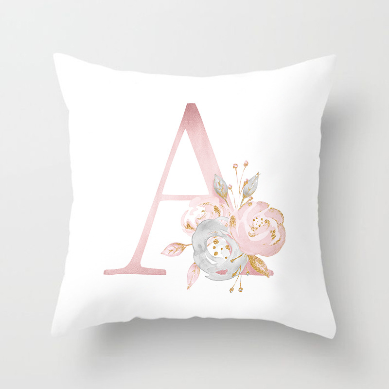 Image 3 - Rose Gold Pink English Letter Cushion Cover Valentine's Day Gifts Kissen Decorative Throw Pillowcase for Couch Car Sofa Home-in Cushion Cover from Home & Garden