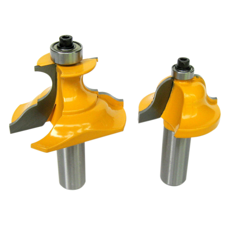 2Pc 1/2 Inch Shank Wainscoting Roman Ogee & Pedestal Router Bit C3 Carbide Tipped Wood Cutting Tool Woodworking Router Bits
