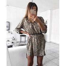c8b89ed983 2018 Women Sexy Leopard Print Dress Long Sleeve V-neck Mini Club Dresses  Lady Bodycon