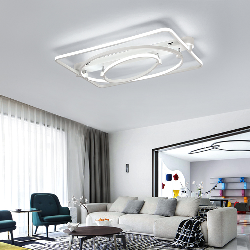 Indoor Lamp of Contemporary Led Celling Light for Living Room Bedroom Round Shape Modern Acrylic Home Lighting Fixture Simple