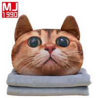 New personality Cushion Blanket 3D Pillow Car Cushion Creative Cat Cushion Blanket Cute Pillow Birthday Present 1PC