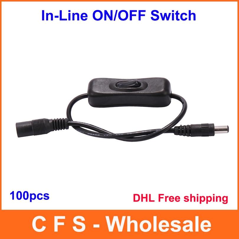 En Ligne Interrupteur D/'Alimentation On//Off 2.1mm 5.5mm Câble Jack pour